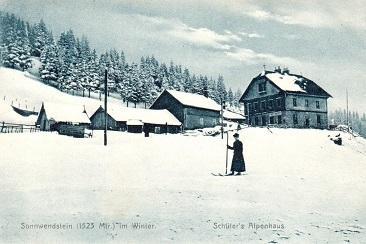 Postkarte-SonnwendsteinSchifahrerin366